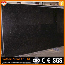 high quality India black galaxy granite tiles 60x60 black galaxy granite price for kitchen countertop