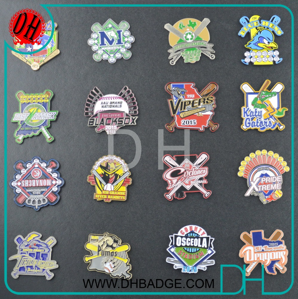 Custom DH Crafts a series of gallery dangler baseball trading pin