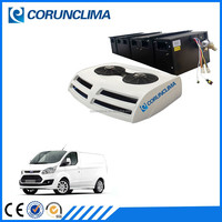 Roof top mounted customized dc 24v van air conditioner