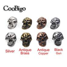 Charm Metal Skull Beads For Paracord Bracelet Knife Lanyards Jewelry Making Accessories #FLQ076-S/BR/B/AC