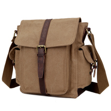 Multifunctional canvas casual messenger bags for men