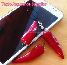 Artificial Red Pepper High Quality Fake Mini Chili Vegetable For Cell Phone Straps Decoration