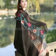 New style promotional embroidered pashmina shawl