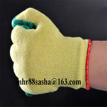 Brand MHR Latex palm coated gloves rubber coated hand safety work gloves with low price wholesale
