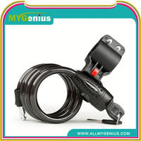 Ring type spiral cable lock for bicycle ,I025 locks system for bikes