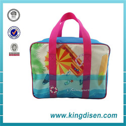 New insulated nylon cooler tote bag for picnic or wine