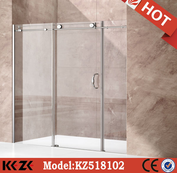 8mm glass thickness 3 sided shower enclosure sliding door bath stall( KZ518102)