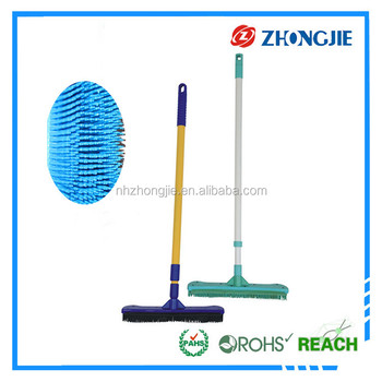 Aluminum Handle Home Indoor Cleaning Soft Rubber Broom
