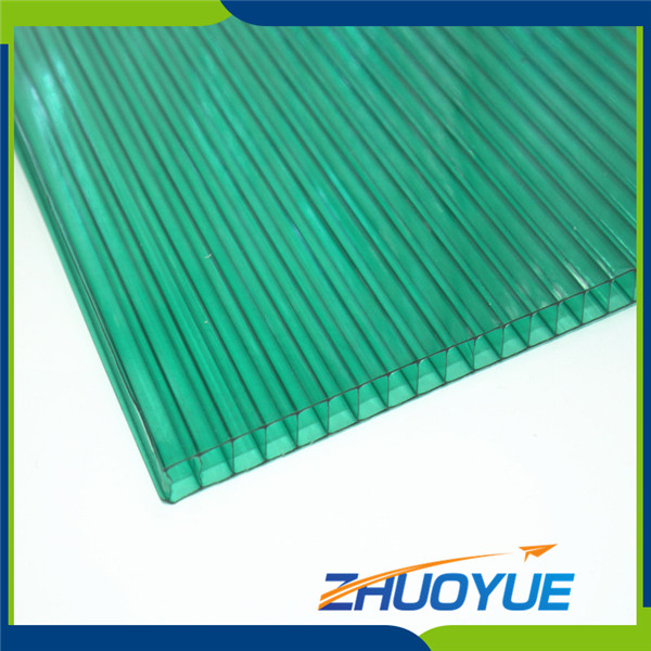 Anti infrared multiwall hollow 100% recycled clear plastic sheet
