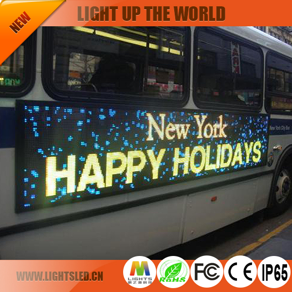 P4 Outdoor Stop Destination Sign Bus LED Display Screen For Sale
