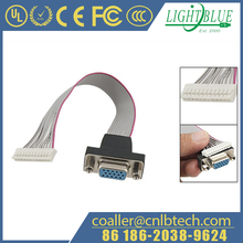 HD15P Female to 12 Pin VGA Ribbon Cable Connector for PC