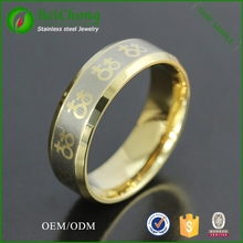 Wholesale 18k gold plated with lesbian symbol stainless steel gay men ring