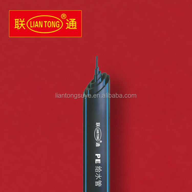 Liantong high quality GB/T 13663-2000 hdpe 50mm pipes pn16, hdpe water pipes 1 1/2 inch DN40