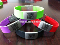Fancy glowing silicone hand bands id bracelet