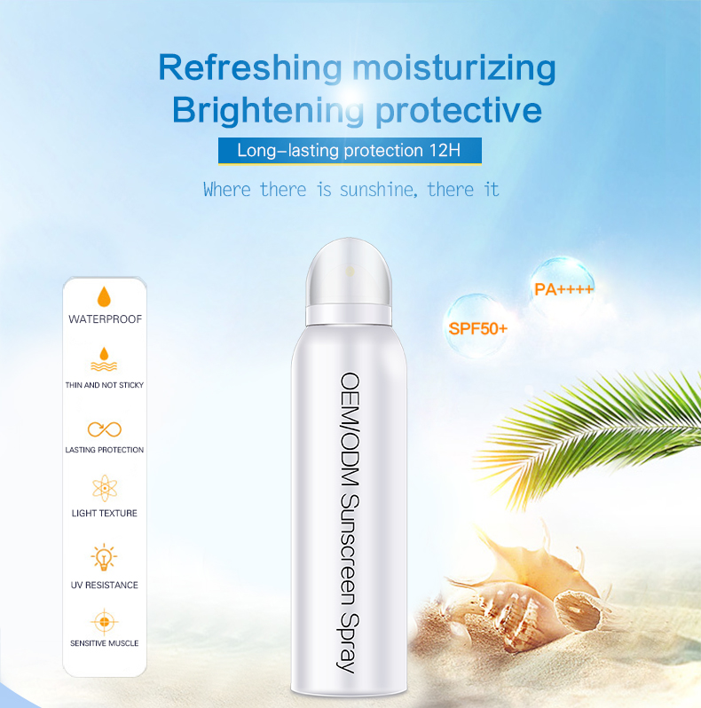 sunscreen lotion Isolated protective Sunscreen Spray