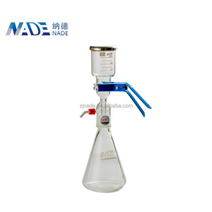 300ml Glass funnel Vacuum Solvent filtration apparatus for laboratory