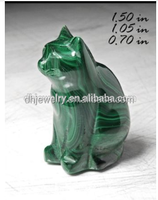 Sale New design natrual malachite crystal cat malachite quartz cat toy for decoration