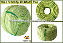"1/2"" x 300ft Outdoor Camping Glow In The Dark Rope With Reflective Tracers"