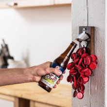Handcrafted Beer Bottle Opener Magnetic Cap Catcher
