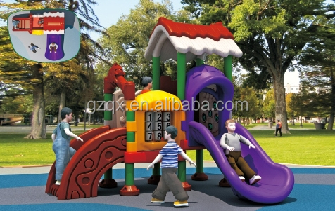 Best design little tikes outdoor play, large slides for kids, kids playsets outdoor QX-072B
