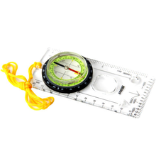 Outdoor Baseplate Map Compass Ruler Scale for Hiking Camping SOS Survival Pocket Kits