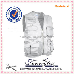 SUNNYTEX OEM Multi Pocket Sleeveless Jacket Custom Man Work Fishing Vest 2015