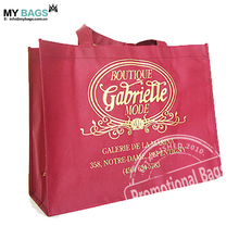Custom logo print eco promotional small shopping bags with handle