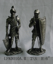 Hand-paint carved pewter soldier home decoration business gift army soldiers