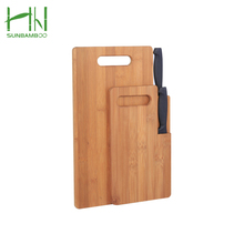 Wholesale Moisture resistant chopping bread bamboo cutting board with knife