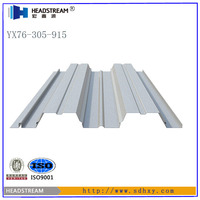 Flooring galvanized steel grating 0.8mm 1.0mm 1.2mm thick steel decking with low price