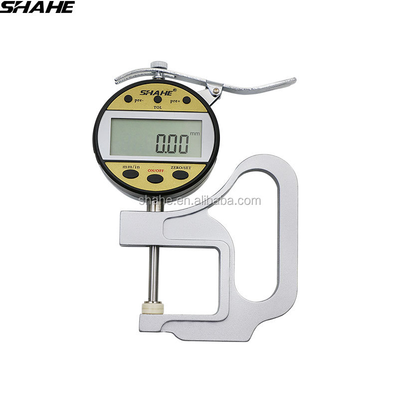 SHAHE 0-25 mm/0.01 mm digital <strong>thickness</strong> gauge leather <strong>thickness</strong> meter measuring instrument