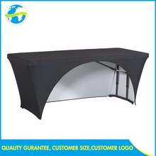 Event Digital Print Blue Quick Spandex Rectangular Display Show Table Cover