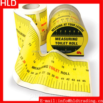 Factory Wholesale Measuring Tape 3 ply Promotional Custom Printed Toilet Paper Roll