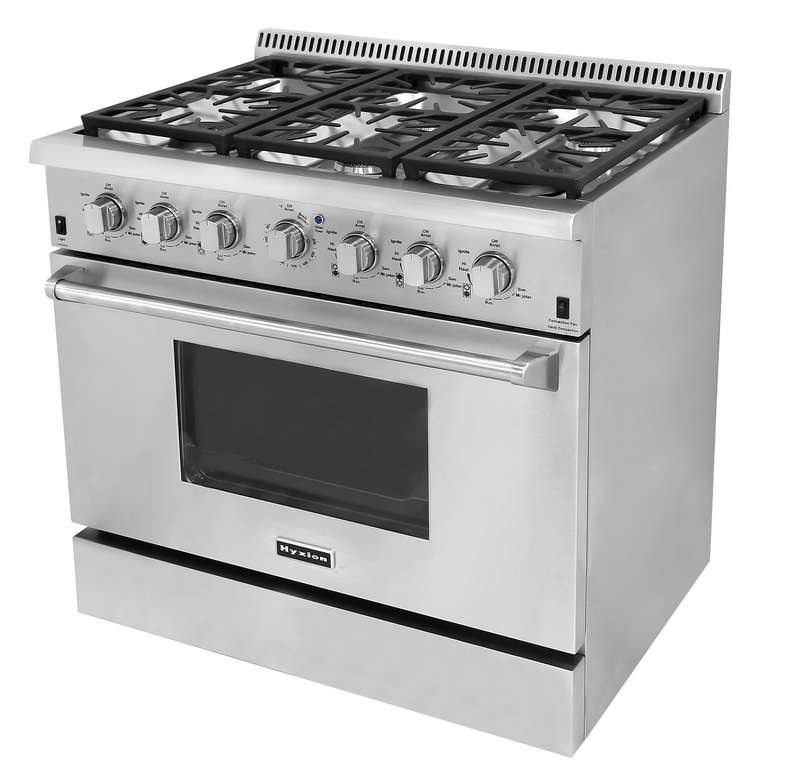 "Hyxion 36"" inch stainless steel industrial cooking stoves with oven/gas cooking range with oven"