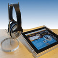ccustom acrylic headphone stand holder,plastic headphone holder display stand