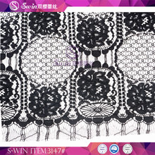 Embroidered Tulle Wedding Textile Lace Fabric in Rolls with Heavy Cotton Lace Fabric