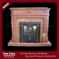 2013 Classical and Luxurious Design Wall-mounted Red fireplace