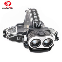 2018 New Design Eagle Eye Zoomable USB Rechargeable Camping 6000 Lumen LED Headlamp