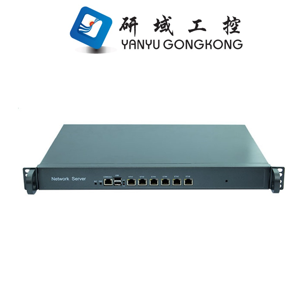 <strong>1</strong> <strong>U</strong> 6 ethernet port Firewall Rack Router with CPU atom 525