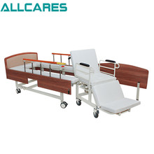 Homecare electric medical elderly care hospital bed with wheelchair