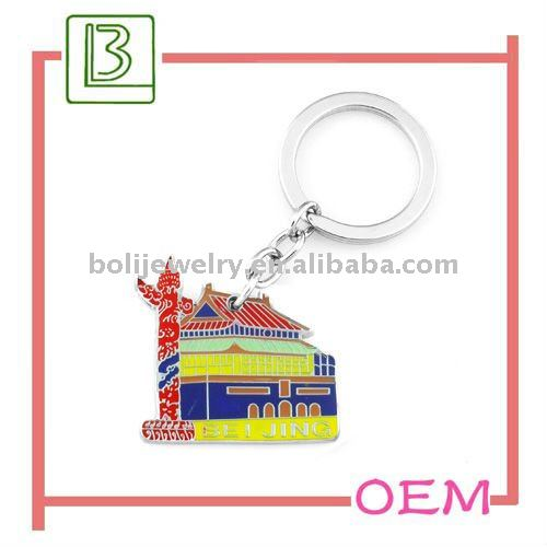Chinese Style Facebook Shaped Promotional key chains
