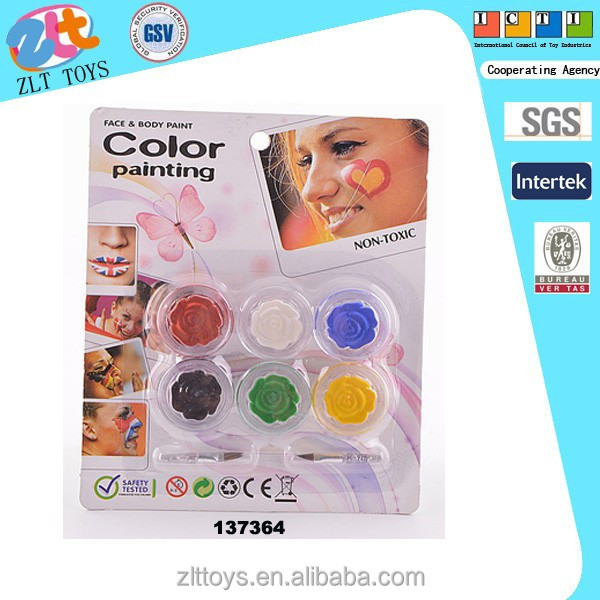 New promotional fans face color toys cosmetic for people