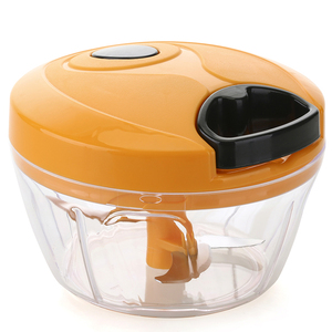 Food Chopper Clear Container Mini Hand Vegetable Grinder