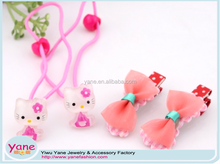 New pink fashion cute hello kitty kid hair accessory set