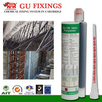 Polyester resin planting-bar glue for ceiling threaded rod