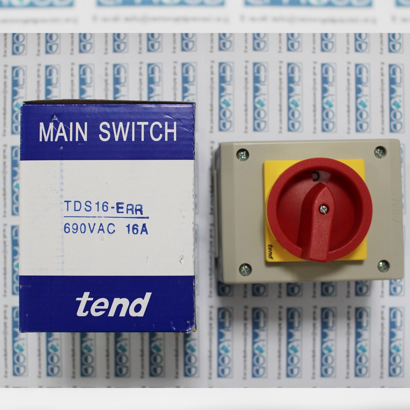 Tend Rotundity Handle Electrical Main Switch TDS16 - ERB | TDS16 - ERR (3P) 690VAC 16A