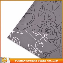 201 304 316 430 Grade Color Silver Stainless Steel Decorative Steel Sheet Etching Plate /Sheet