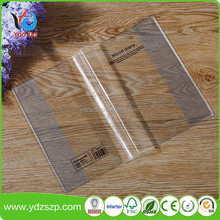 Clear PP plastic sheet for book cover stationary folder A4 pvc book cover customize logo for students