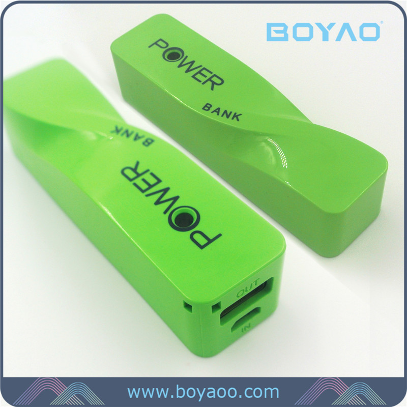 2016 Factory direct OEM newest high quality 18650 battery portable power bank 2600mAh