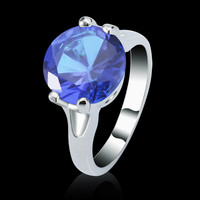 jewelry making skulls precious gemstone Solitaire Ring wedding fashion jewelry